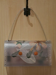 Nini Ong Clear Flower Shoulder Handbag