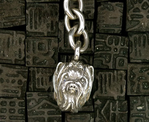 Marissa Perry Sterling Silver Yorkie or Maltese Keychain