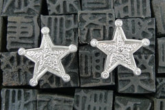 Julez Bryant 14K White Gold Diamond Star Earrings