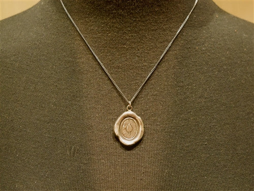 Pyrrha Leaf  Pendant Necklace on Sterling Silver Chain