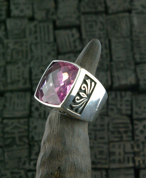 Marisa Perry Marrakesh Crowning Ring with Amethyst in Sterling Silver