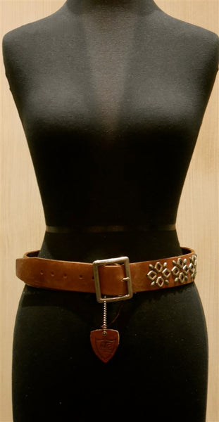 Hollywood Trading Company Brown Stud Belt
