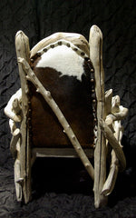 Santa Fe Driftwood Wing Chair with Cowhide Seat
