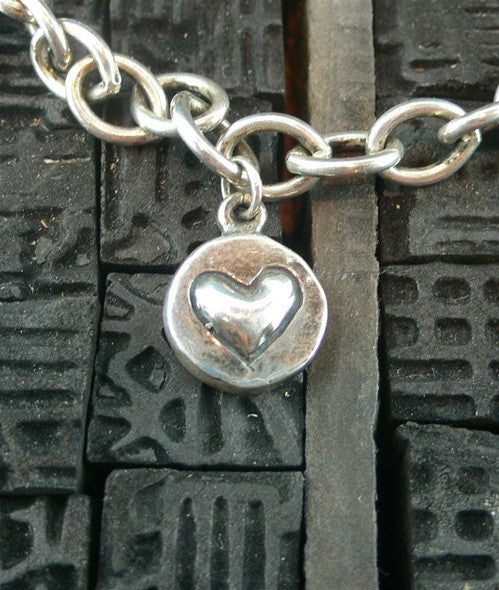 Kamofie Sterling Silver Small Charm Bracelet with Heart, Star, and Peace Dove