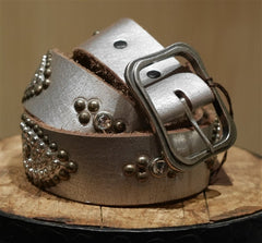 B-Low The Belt Silver Studded Belt