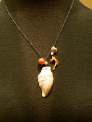 Space Mermaid Seashell Necklace