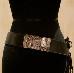 Kimme Winter Leather Tie Belt