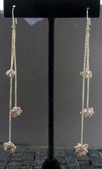Gabrielle Sanchez Pink Tourmaline and 18K Yellow Gold Earrings