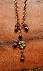 Lisa Stewart Purple Swarovski Crystal and Charm Necklace