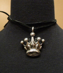 King Baby Sterling Silver Crown Pendant Necklace