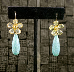 Mark Walsh Leslie Chin Turquoise Drop Earrings