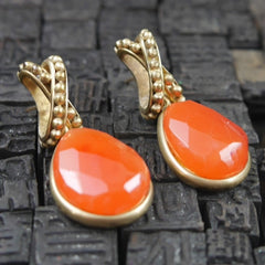Steven Vaubel Vermeil Orange Gold Earrings