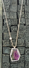 Jemma Wynne Large Geometric Necklace with Pave Diamonds in 18K Gold