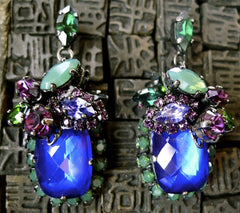 Erickson Beamon Bosa Nova Earring - Purple Custom