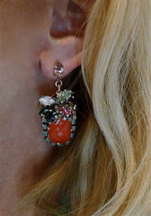 Erickson Beamon Bosa Nova Earrings - Red Holiday Custom