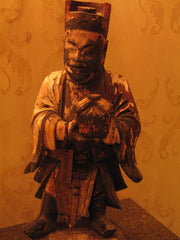 Antique Chinese Hand Carved Fortune Figure