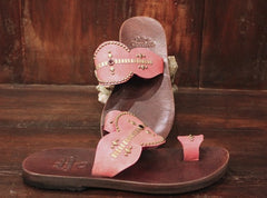 Calleen Cordero Mila Studded Hot Pink Leather Sandal