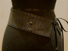 Emotionally Unavailable Wide Grommet Stud Wide Belt