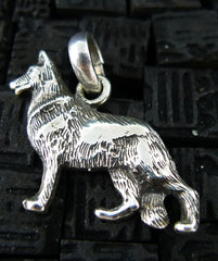 Fine Arf Sterling Silver Dog Charm - German Shepherd
