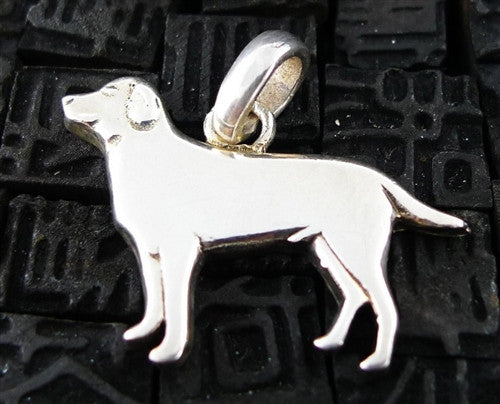 Fine Arf Sterling Silver Dog Charm -Male Labrador Retriever