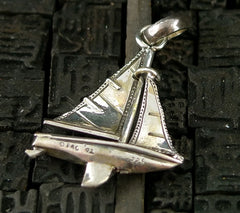 Fine Arf Sterling Silver  Charm - Sailboat