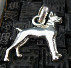 Fine Arf Sterling Silver Dog Charm - Boxer