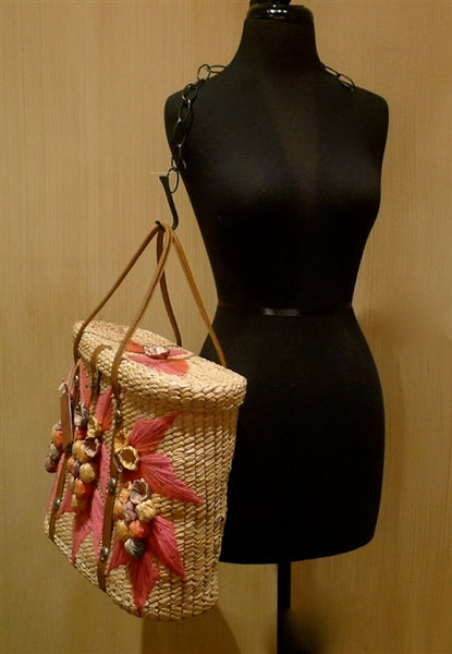 Roth & Madge Vintage Mexican Style Beach Tote Handbag