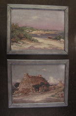 Signed Paintings Brittany & Bretagne, Late 19th Century Oil Paintings on Board