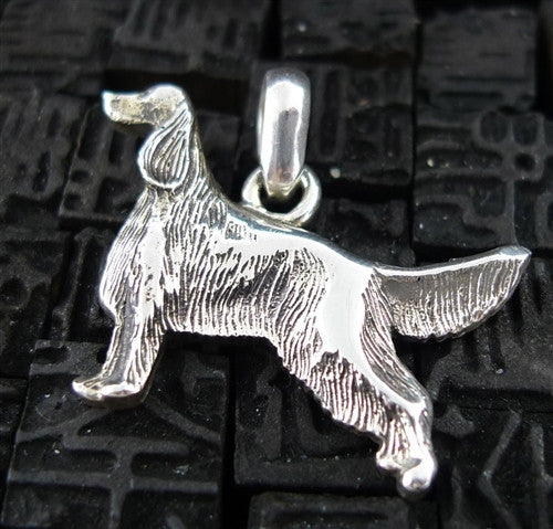 Fine Arf Sterling Silver Dog Charm - Irish Setter