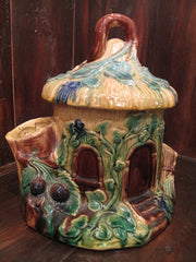 French Majolica Tree Cottage Humidor