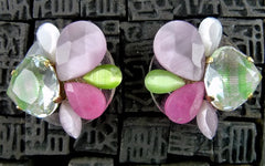 Erickson Beamon Resin Pink Lime Earrings