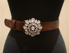 B-Low The Belt Clear Crystal Medallion Belt