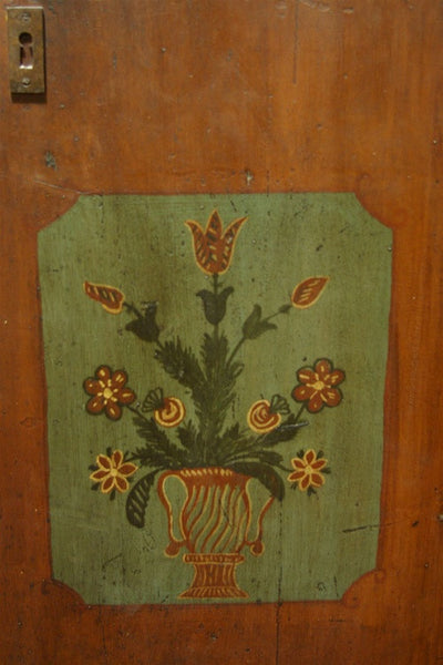 Latter 19th Century Folk Art Painted Armoire