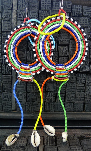 Bunja Colorful African Bead Earrings