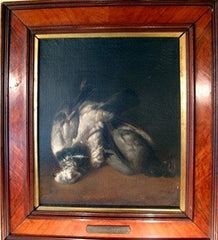 PAIR 17th Century Oil Paintings of Trophy Fowls, Signed Von Hamilton