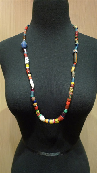 Churchill Private Label Old African Trading Bead Necklace