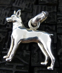 Fine Arf Sterling Silver Dog Charm -Miniature Pinscher
