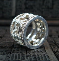 Lazaro Diamond and Sterling Silver Infinity Ring