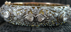 Lorraine Schwartz Blackened Diamond 18K Gold and Sterling Silver Bangle Bracelet