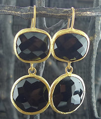 Coralia Leets Double Stone Black Onyx Earrings