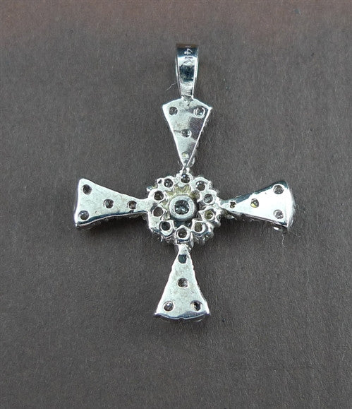 CHURCHILL Private Label 14k Diamond Maltese Cross Charm