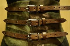 HTC Hollywood Trading Company Olive Green Peyote Belt