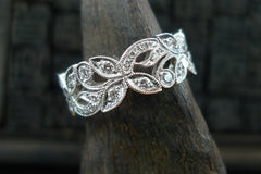 Beverly K Diamond Floral Eternal Ring in 18K White Gold