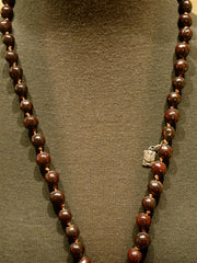 Kimmie Winter Coated Bean Rosary Necklace