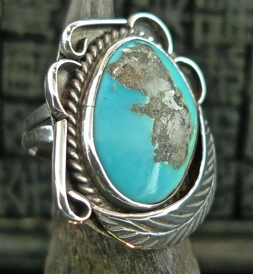 Southwestern Sterling Silver and Turquoise Ring