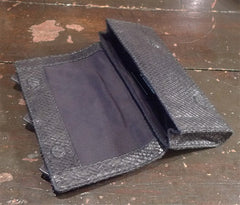 Brachfeld Parlaghy Pip Small Clutch in Black Snake Embossed Leather Lambskin