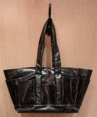 Flavio Olivera Black Leather Utility Shoulder Bag