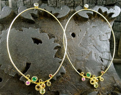 Gretchen Julius 18K Yellow Gold and Mixed Stone Earrings