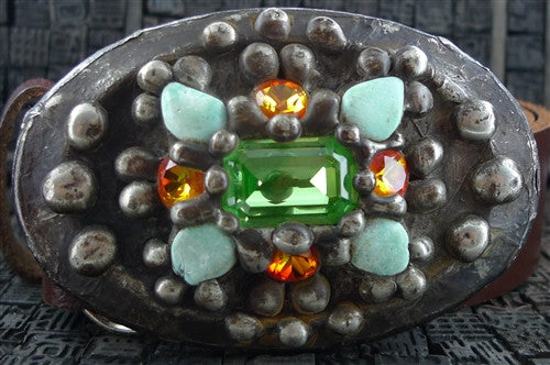 Mikal Winn Crystal Encrusted Belt Buckle and Strap
