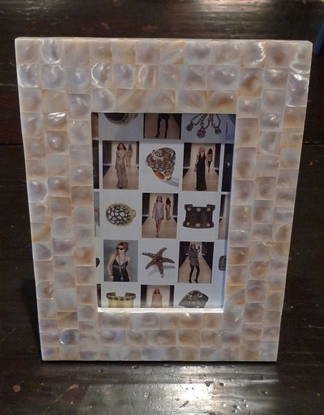 Two's Company Mother of Pearl Picture Frame